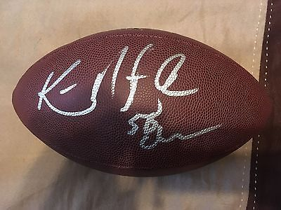 KEN NORTON JR SIGNED OFFICIAL SIZE WILSON NFL FOOOTBALL 3X SUPER BOWL CHAMP COA