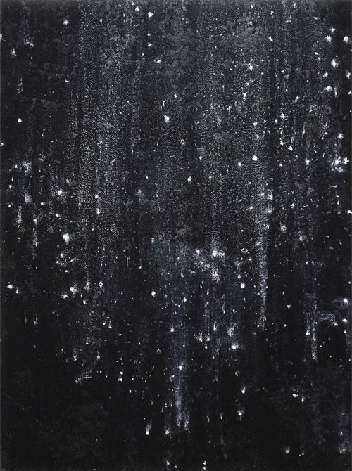 Jochen Hein | stardust, acrylic on jute, 2008