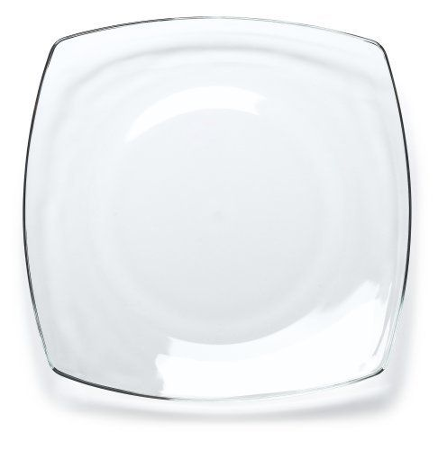 Bormioli Rocco Eclissi Clear Square Dinner Plates Set of 12 Bymarlene soyk  sc 1 st  Pinterest & 78 best Kitchen u0026 Dining - Plates images on Pinterest | Countertop ...