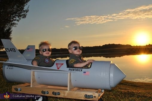 Heather: Sebastian, AKA Maverick, and Christian, AKA Goose, are 18 month old identical twins that live in Orlando, FL. Their Papa Jay custom made their jet from scratch, using only his...