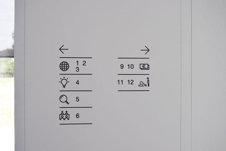 Interior signage - new headquarters #signal #signage #signposting #graphics…