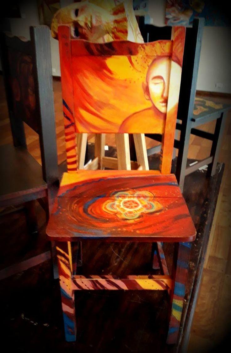 Reflexionario silla de madera acr lico barniz for Sillas de acrilico