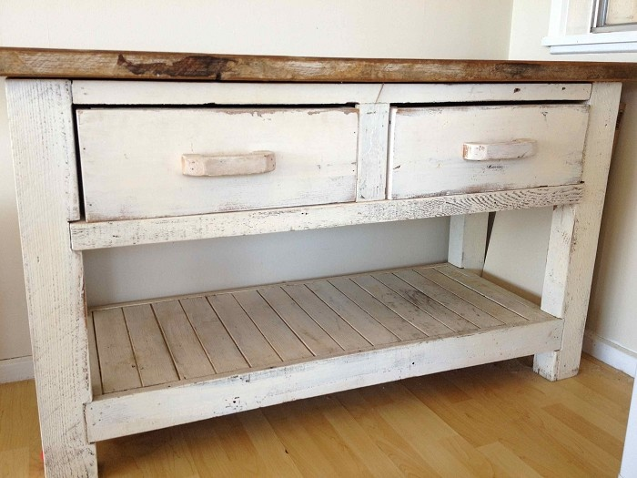 Beach Style Kitchen Bench