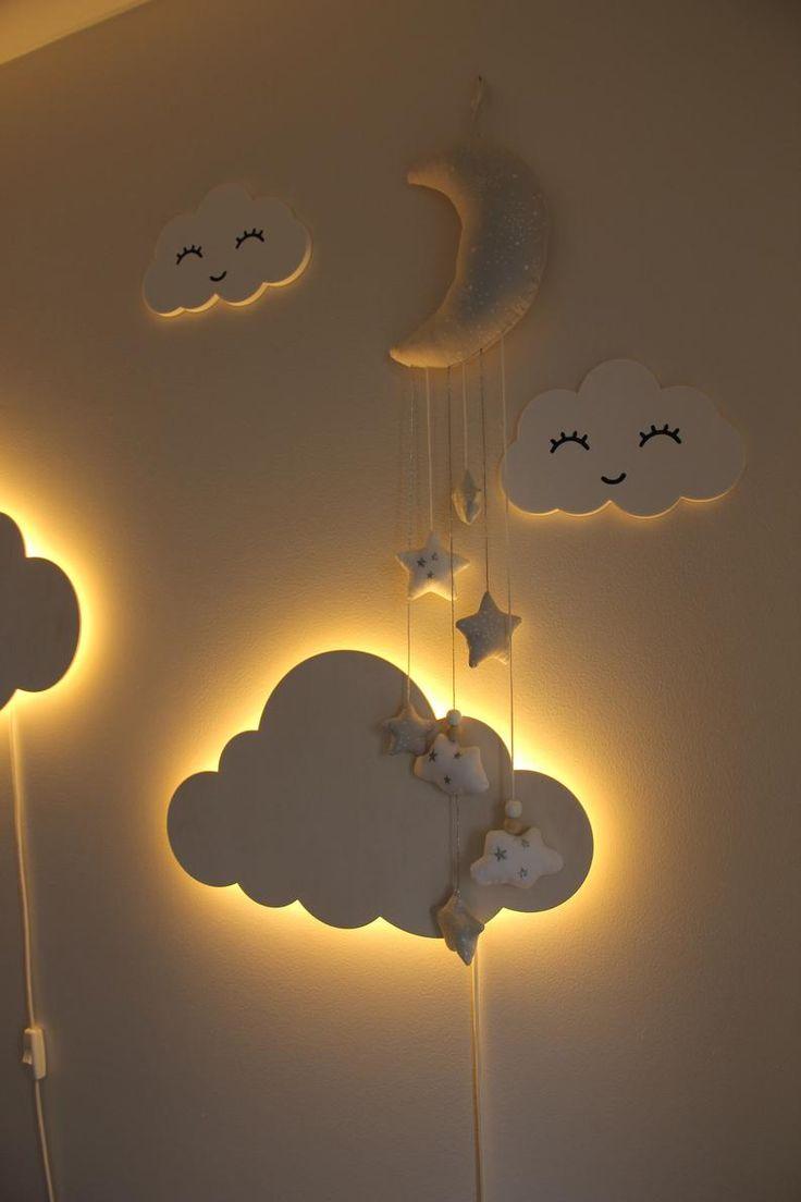 Cloud Night Light Wood Kids Lamp Baby Room Led Lamp Nursery Etsy Cloud Night Light Kids Lamps Kids Room Lighting Wall lights for kids bedroom