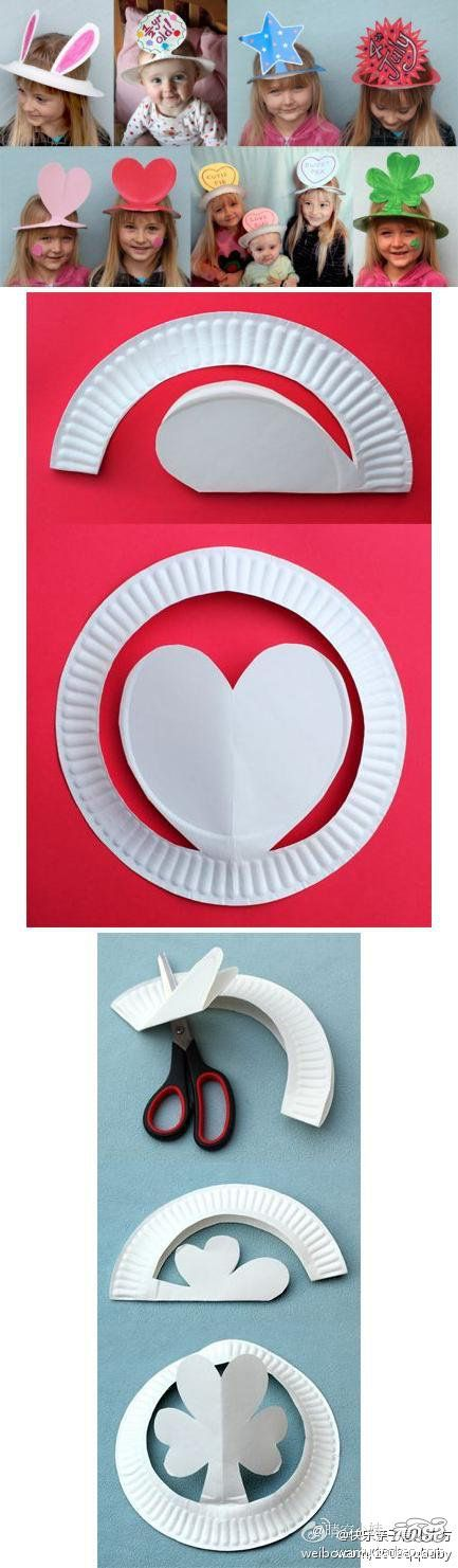 Paper plate crowns: great for special events, holidays, readers theatre, character presentations, a craft etc. Students can learn what size circle cutting fits their head the best.