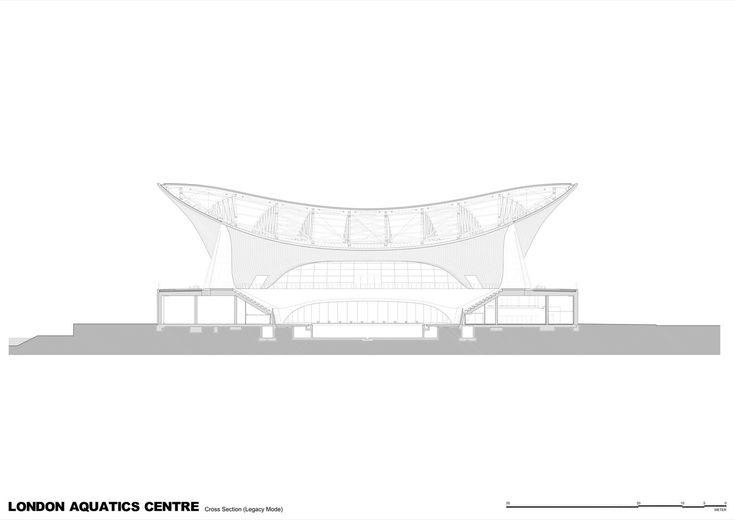 London Aquatics Centre for 2012 Summer Olympics,Cross Section (Legacy Mode)