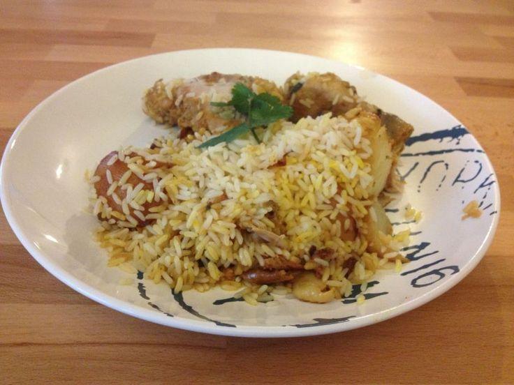 Recette de cuisine de l'ile Maurice, cuisine mauricienne de tous les jours: Le briani de poulet
