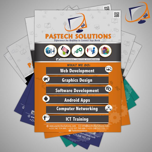 Flyer for Pastech Solutions   Pastech Solutions is an IT firm which provides services like IT Training Professional websites software Development Andriod apps and many more call them now !  Flyer by Creative Ice GFX. | ...creativity is our priority Follow / Join us on Facebook | Instagram : Creative Ice GFX Twitter | Pinterest : Creative_ice2 call/ Whatsapp 233269733119 Email : creativeice2@gmail.com  #flyer #creativeicegfx #graphicsdesign  flyer