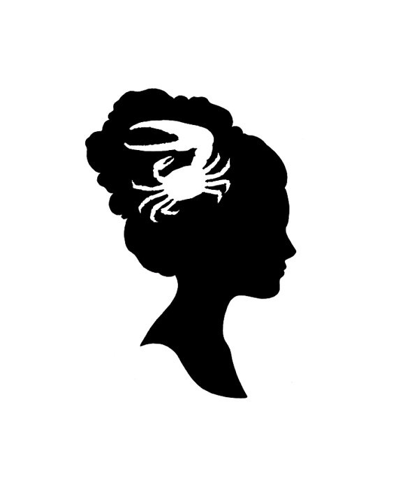 Quirky Custom Silhouette Portrait / Profile  by CuriousLemon, $40.00