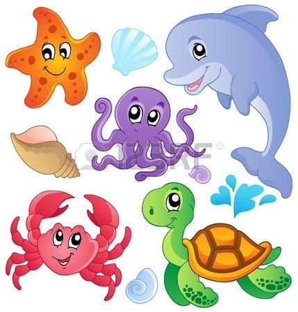 Los peces del mar y de recogida de animales 3 ilustraci n vectorial Foto de…