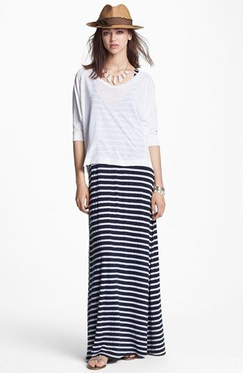 Summer | love this look. t over maxi.