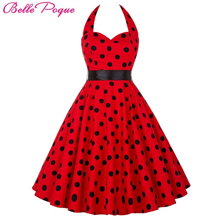 Belle Poque Summer Womens Dresses 2017 Casual Polka Dot Retro Vintage 50s robe Rockabilly Swing Pinup Party Dress Plus Size