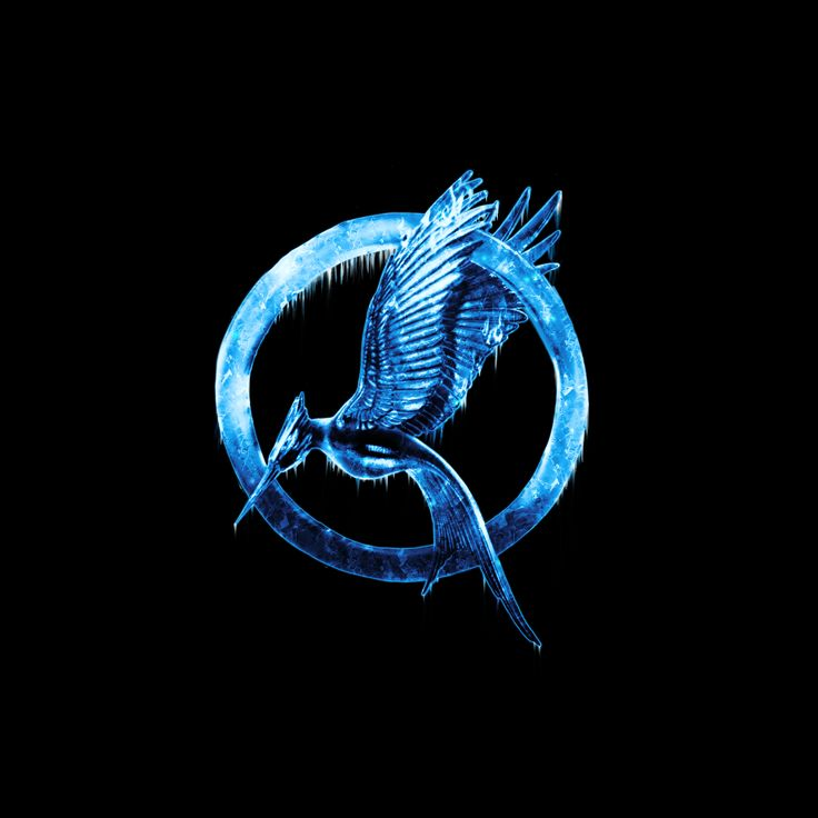 An icy Hunger Games logo - Photoshop