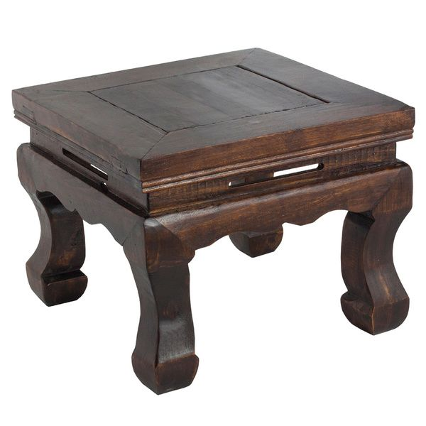 Dark Wood Chinese-style Stool - Overstock™ - kitchen step stool