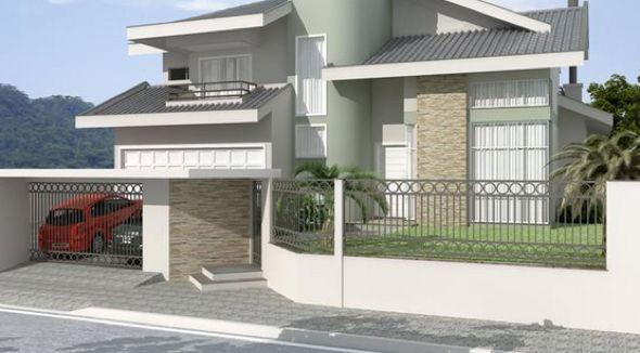 30 modelos de frente de casas com muros atualmente for Ver modelos de frentes de casas