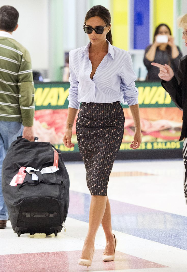Victoria Beckham puts a prim and posh spin on the traditional pencil skirt.