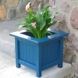 Dress up your porch or patio with this easy to build square garden planter.