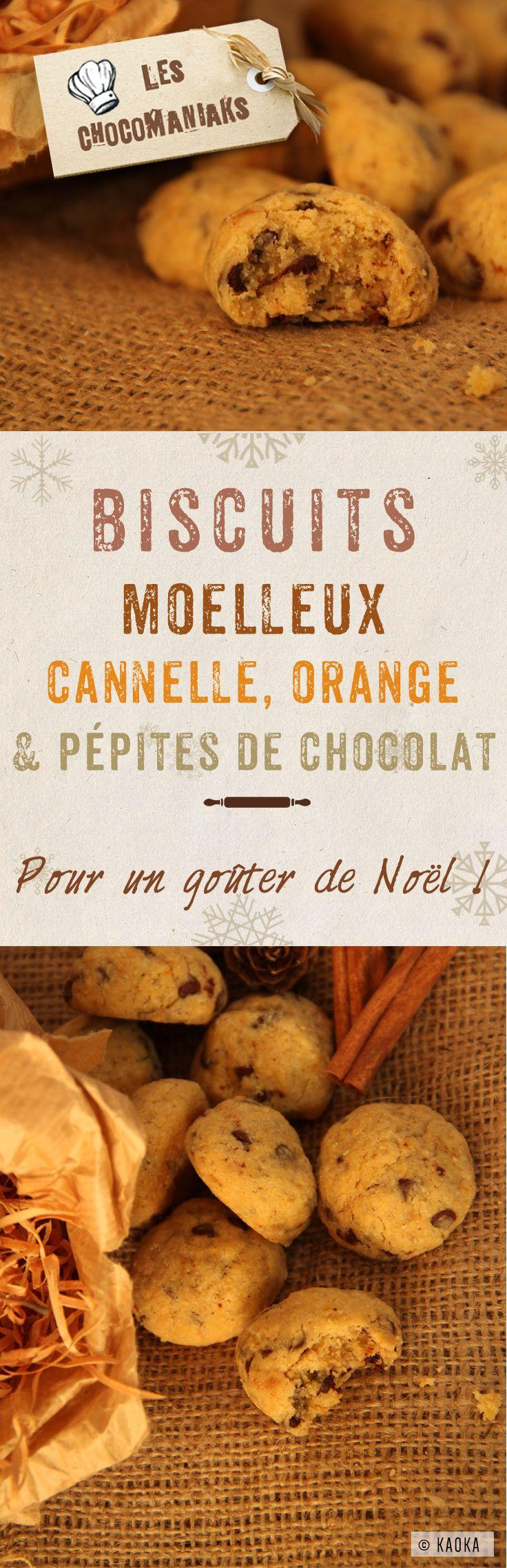 Biscuits Moelleux Cannelle, Orange et Pépites de Chocolat - Pour un goûter de Noël // Blog LesChocomaniaks www.chocomaniaks.fr // ©KAOKA - Chocolat Bio Équitable