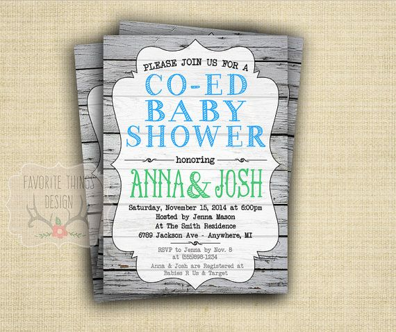 Co Ed Baby Shower Invitation Coed By Favoritethingsdesign Use Coupon Code Pin20off For 20 Off Your Order Invitations Pinterest