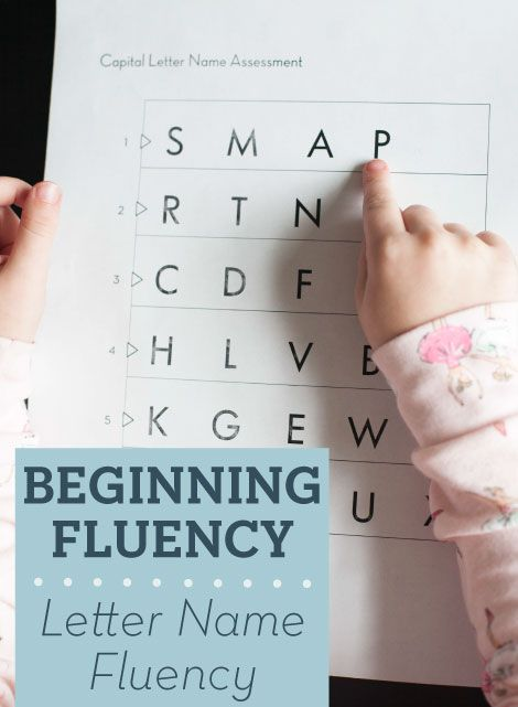 How do you get started with fluency for the very earliest readers? Beginning Fluency: Letter Name Fluency