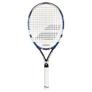 The all-new 2015 Babolat Drive 115 has much of the same technology as the Pure Drive line, with a much lighter weight and larger head size. With an open string pattern and  decreased weight, spin and   power come very easily. The Cortex System optimizes the overall feel for the ball and gives every player the comfort level they want and need. Babolat Woofer technology is also in place to enhance control and sensation. For a player looking for the  same  power as a Pure Drive  without the…
