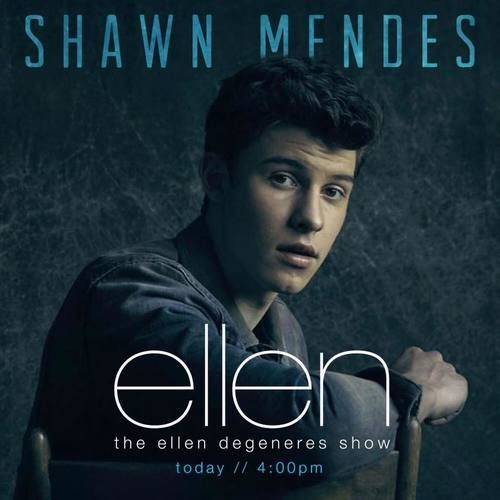 """Tune into The Ellen Show today I'm performing """"Mercy""""  Shawn Mendes, January 2017"""