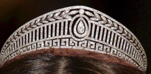 The Prussian or HellenicTiara. The diadem was a wedding present for Princess Viktoria Luise of Prussia from her father, Kaiser Wilhelm II. It was made by the Imperial jeweller Koch.