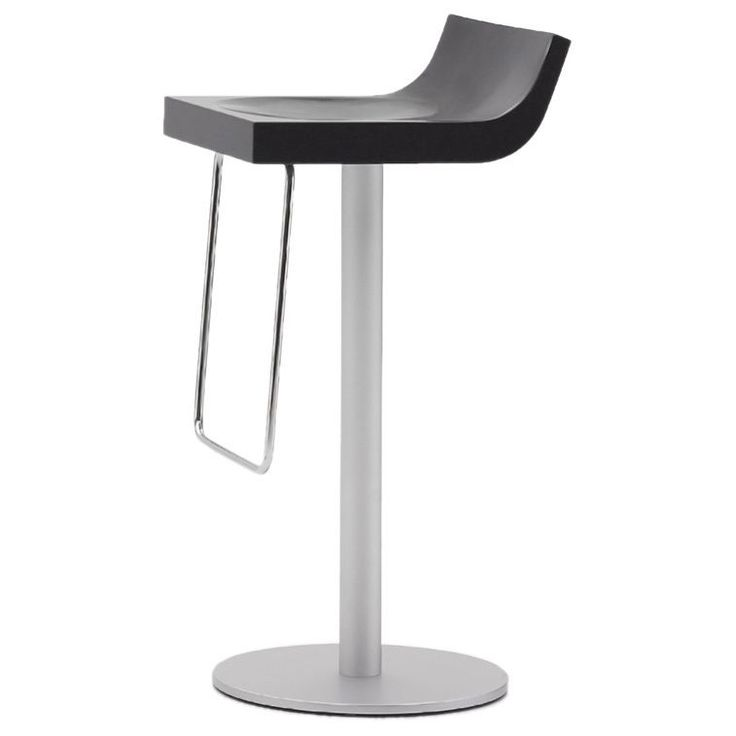 argo furniture basi bar stool basi short bar chair black aluminum