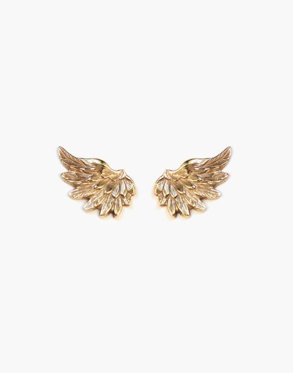 Boucles d'oreilles ailes en or Atelier L.A.F 245.00 $  Prenez votre envol avec ces boucles d'oreilles en or jaune 10k en forme d'ailes, parfaites pour s'agencer à tous vos looks.  Dimensions: 10mm x 16mm    Les bijoux sont conçus et créés à Montréal, Canada.  Découvrez d'autres produits de l'Atelier L.A.F
