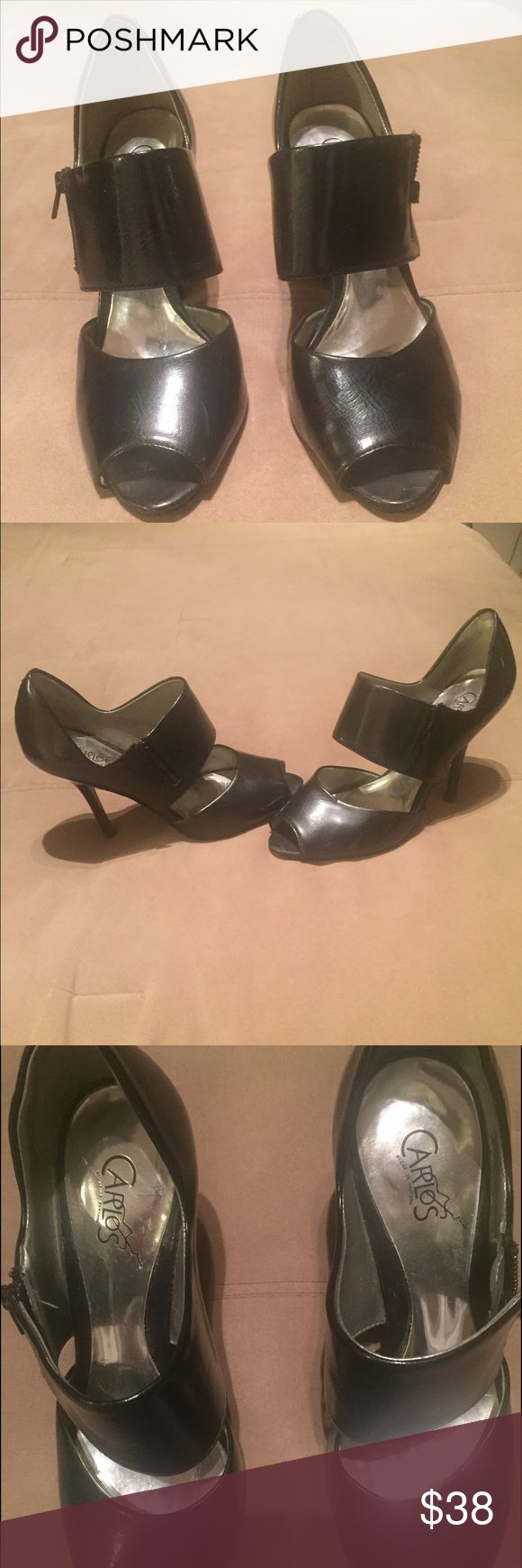 Black vintage Carlos Santana heels Size 6.5 vintage black Carlos Santana pencil heels. 3 inches. Great for the office or a night on the town. Original box not included. Carlos Santana Shoes Heels