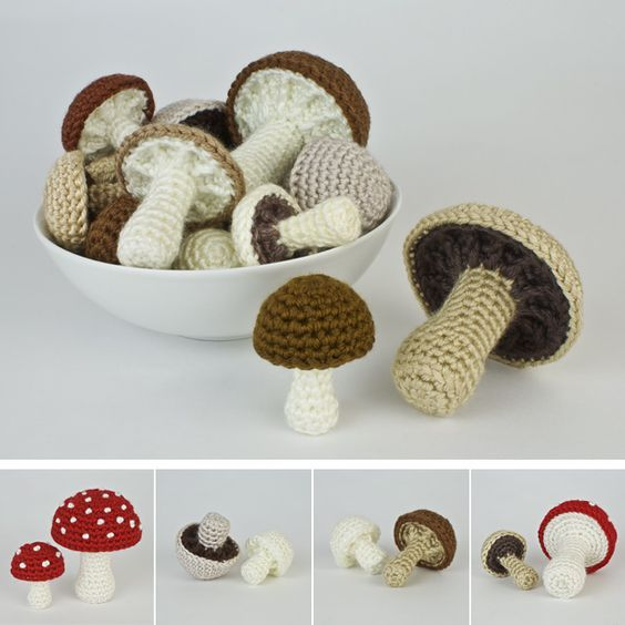 Mushroom+Collection+&+Variations+crochet+patterns+:+PlanetJune+Shop,+cute+and+realistic+crochet+patterns+&+more