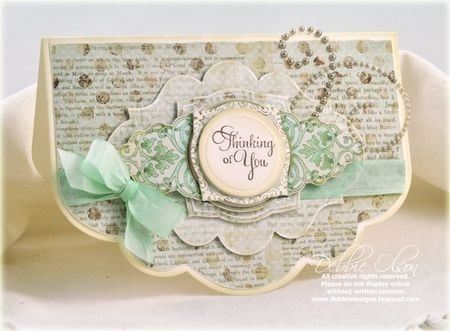 """so cute!  victorian """"thinking of you"""" card."""