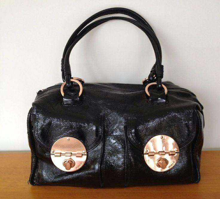Mimco bag, rose gold detail.