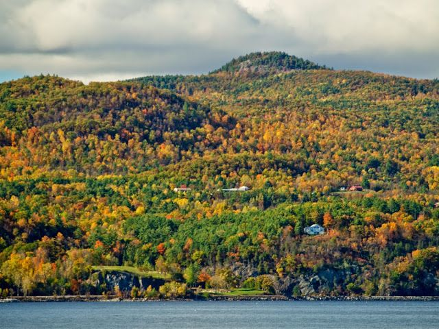 Vista de Vermont junto al lago Champlain