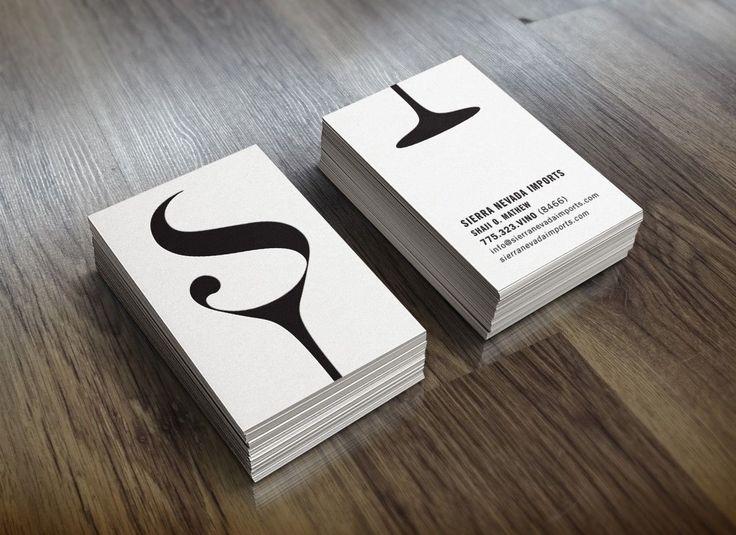 Sierra Nevada Imports - wine logo design business cards