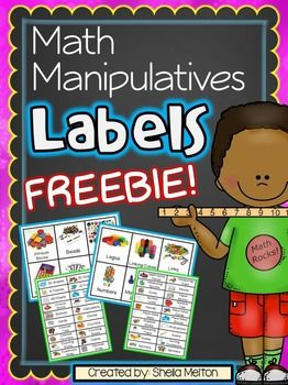 Organizing your classroom's Math Manipulatives will be a piece of cake with these FREE Math Manipulative Labels! All labels feature real pictures of all the manipulatives and come in two different versions. Over 60 math manipulative labels in all!! Manipulative labels include:3D Shapes5 Frames10 FramesBase 10 BlocksAttribute BlocksBeadsButtonsCalculatorsCardsClocksColored TilesCountersColored CountersCounting BearsCounting SticksCubesCuisenaire RodsDecimal GridsDiceDominoesDry Erase…