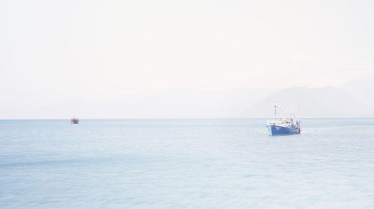 Tuna boats, West coast, fishing, Jacksons Bay, NZ Art, Our Land, Dan Max