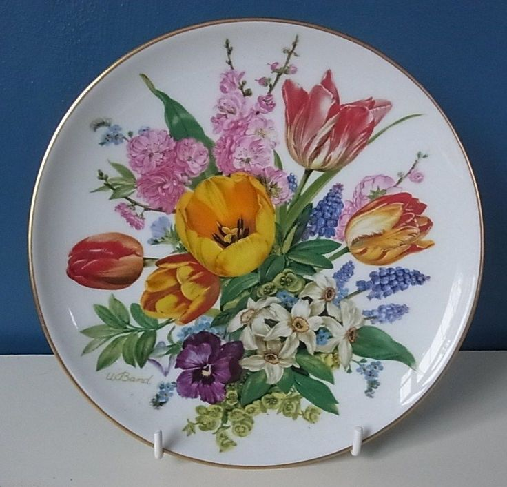 """LOVELY HUTSCHENREUTHER LIMITED EDITION PLATE """"EASTER BOUQUET"""" By URSULA BAND 