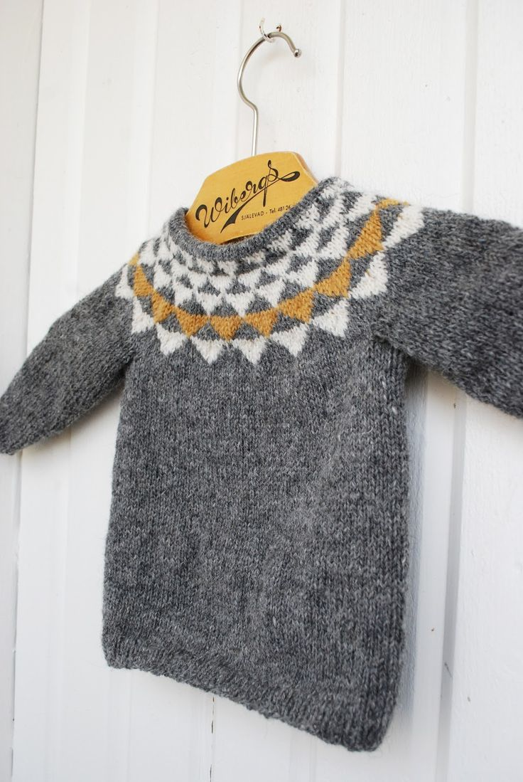Knitted sweater for kids, by Fröken C – DIY or DIE