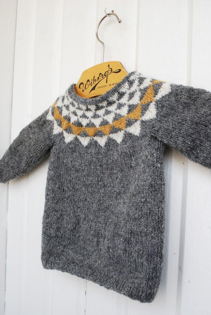 Knitted sweater for kids, by Fröken C – DIY or DIE