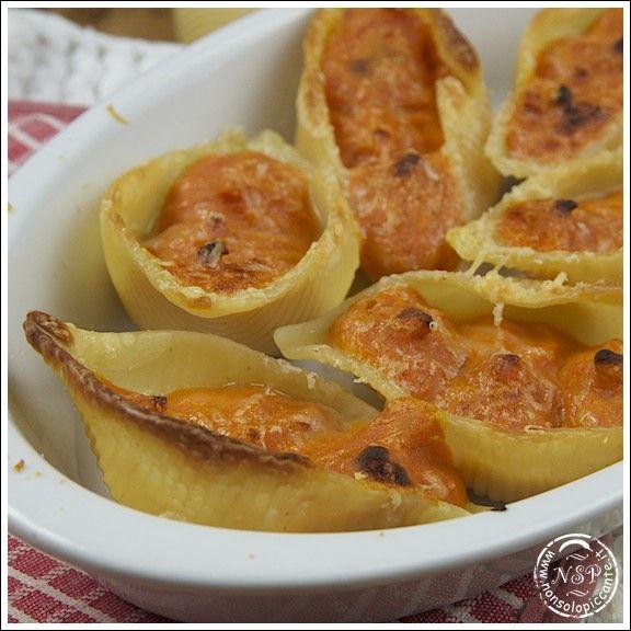 Ricetta Conchiglioni alla zucca - le ricette di nonsolopiccante.it