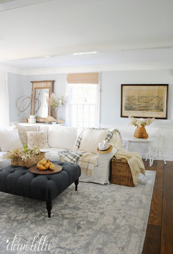 Charming Dear Lillie: Farmhouse Holiday Series   Early Fall Family Room At Bluestone  Hill