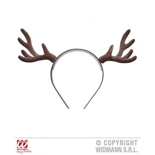Dark brown reindeer horns stag antlers wild animal fancydress accessory 9538D in Clothes, Shoes & Accessories, Fancy Dress & Period Costume, Fancy Dress | eBay
