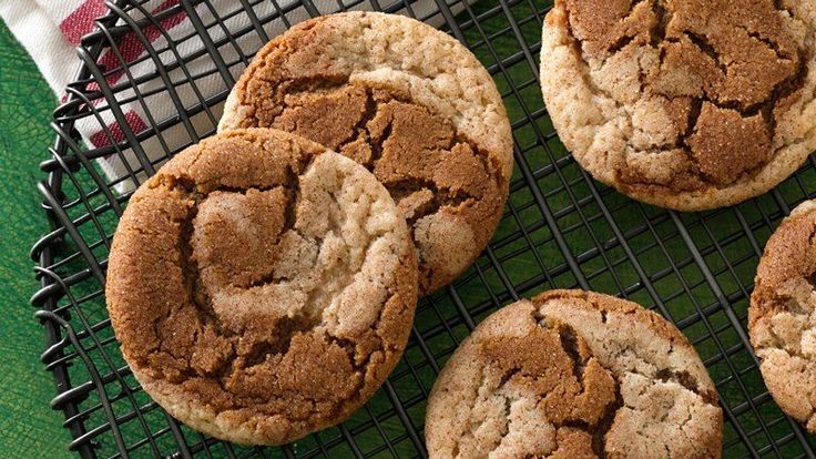 Can't decide between a snickerdoodle and a gingersnap? Now you don't have to! These cookies combine both cookies in one.