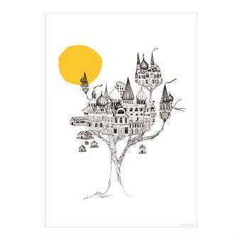 Affischen Another birdsnest från Mini Empire - ett alternativt hem, inspirerad av stora träd, kojor och vacker arkitektur.