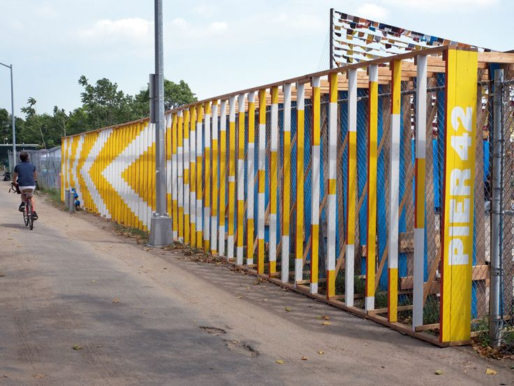 interactive community wall transforms fence by chat travieso #Hoarding #Barricade #graphics