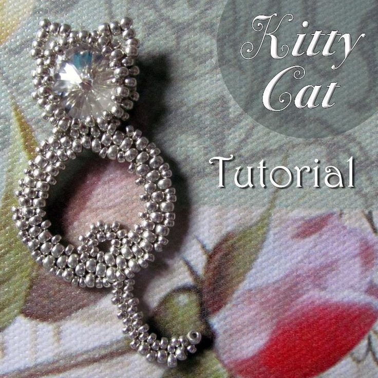 Beadweaving pattern ... by Sandra Scholte | Jewelry Pattern - Looking for your next project? You're going to love Beadweaving pattern 'Kitty Cat' by designer Sandra Scholte. - via @Craftsy