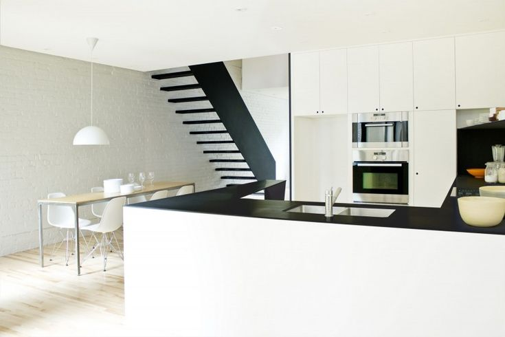 Apartments. Comfortable Contemporary Apartment Design of a Makeover Building: Mesmerizing Indoor Kitchen By La Shed Architecture Design With Modern Electric Oven Featuring Minimalist Dining Room ~ wegli