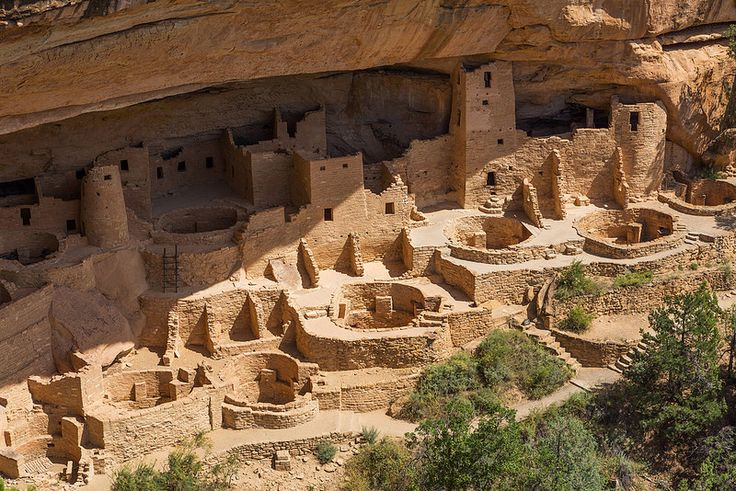 Cliff Palace at Mesa Verde, rotswoningen (optioneel)
