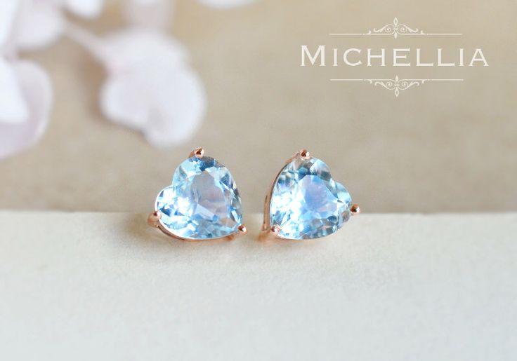14K/18K Gold Aquamarine Heart Earrings, Natural Aquamarine Ear Studs, Ear Post, Post Earrings, March Birthday Gift, Heart of the Sea by MichelliaDesigns on Etsy https://www.etsy.com/listing/277265956/14k18k-gold-aquamarine-heart-earrings